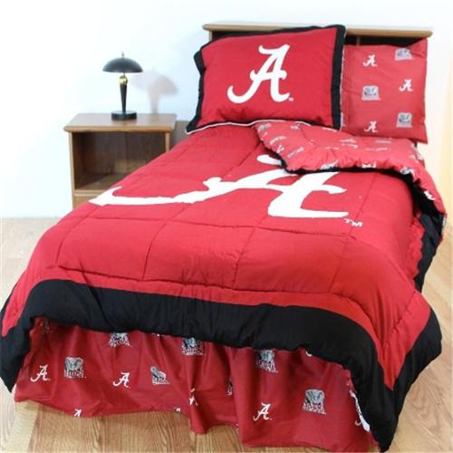 College Covers ALABBQU Alabama Bed in a Bag Queen- With Team Colored Sheets