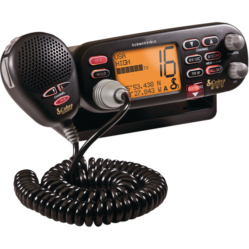 Cobra MR F75B-D Marine Class-D Fixed Mount Radio, Black