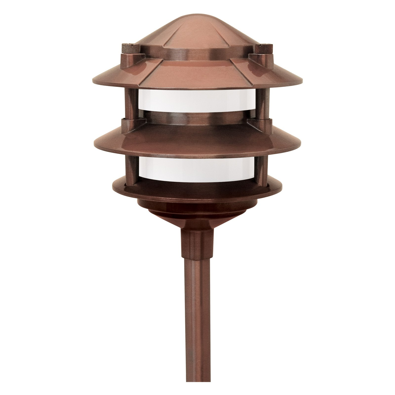 Paradise Garden Lighting Cast Aluminum 3 Tier Path Light