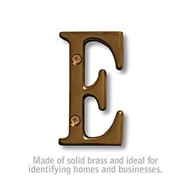 Salsbury 1240A-E Solid Brass Letter - Antique Finish - E, 3 in. - image 1 de 1