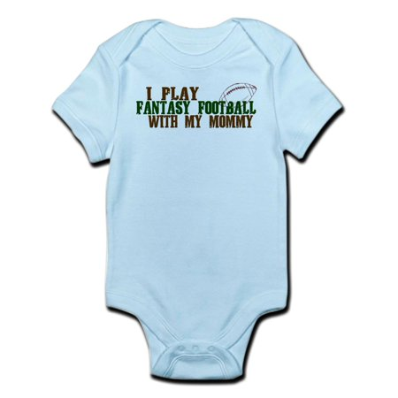 CafePress - Fantasy Football With Mommy Infant Bodysuit - Baby Light - Football Baby
