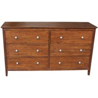 International Concepts Dresser with 6 Drawers