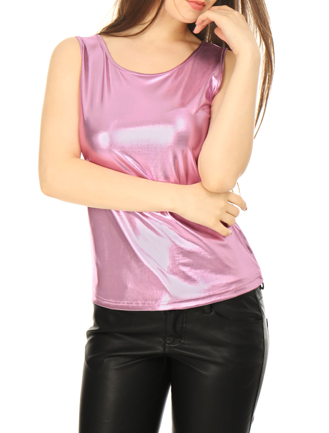 Women's Metallic Stretch Tank Top