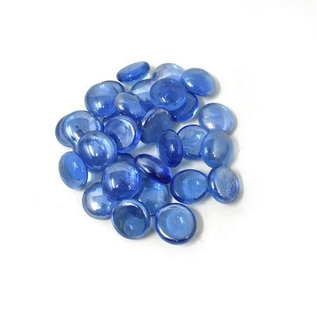 - Glass Marble Gems Vase Filler, Blue, 3/4-Inch, 1.2-LB