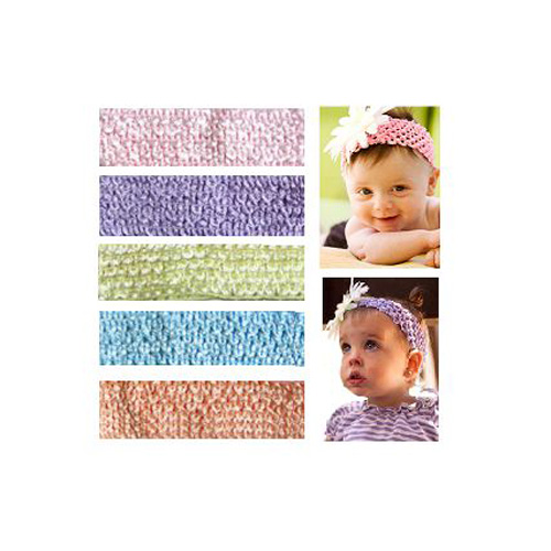 My Little Legs Crochet Headbands (Pack of 5) - Light