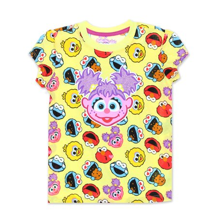 Sesame Street Abby Cadabby Toddler Baby Girls Short Sleeve Tee ASGC701