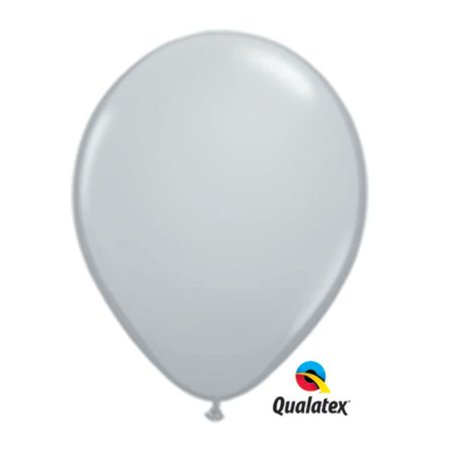 Grey Latex Balloons (5