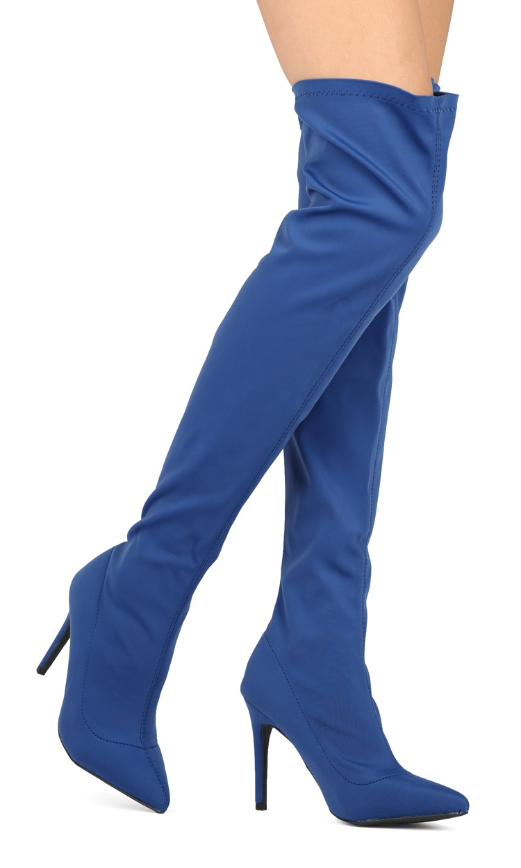 faa9595485c50 Women Stretchy Over The Knee Thigh High Pointy Toe Stiletto Boot - HF00 By  Wild Diva