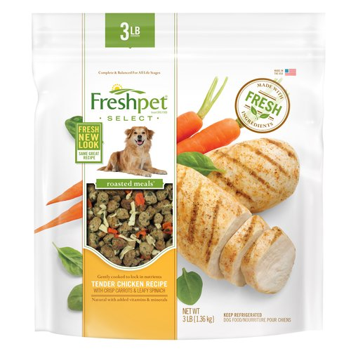 Freshpet Select Tender Chicken with Crisp Carrots & Leafy Spinach Dog Food Recipe