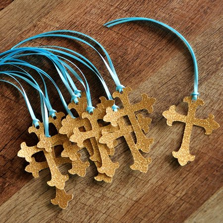 Baptism Decorations. Handcrafted in 1-3 Business Days. Christening Cross Favor Tags 10CT.](Christening Decorations)
