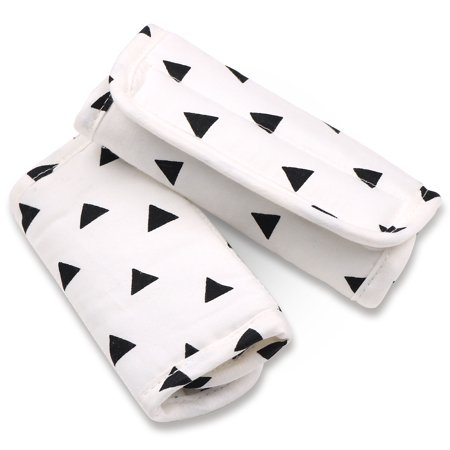 Black Triangle Car Seat and Stroller Strap Covers by The Peanut