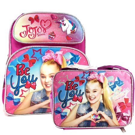 "12"" JoJo Siwa Dream Crazy Big Girls Backpack School Bag Bookbag with Lunch Bag"