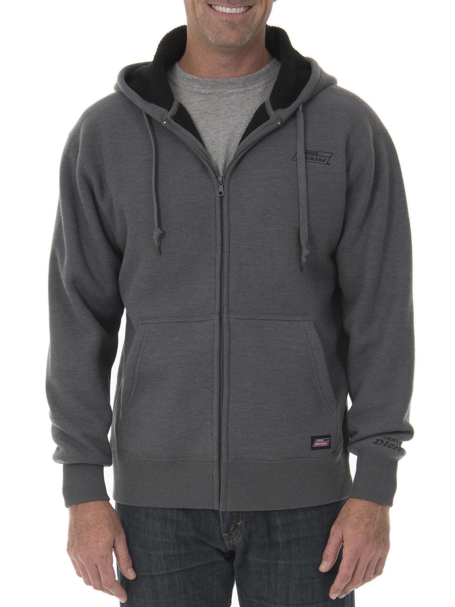 Dickies Big Men's Full Zip Thermal Hoodie with Warm Sherpa Lining