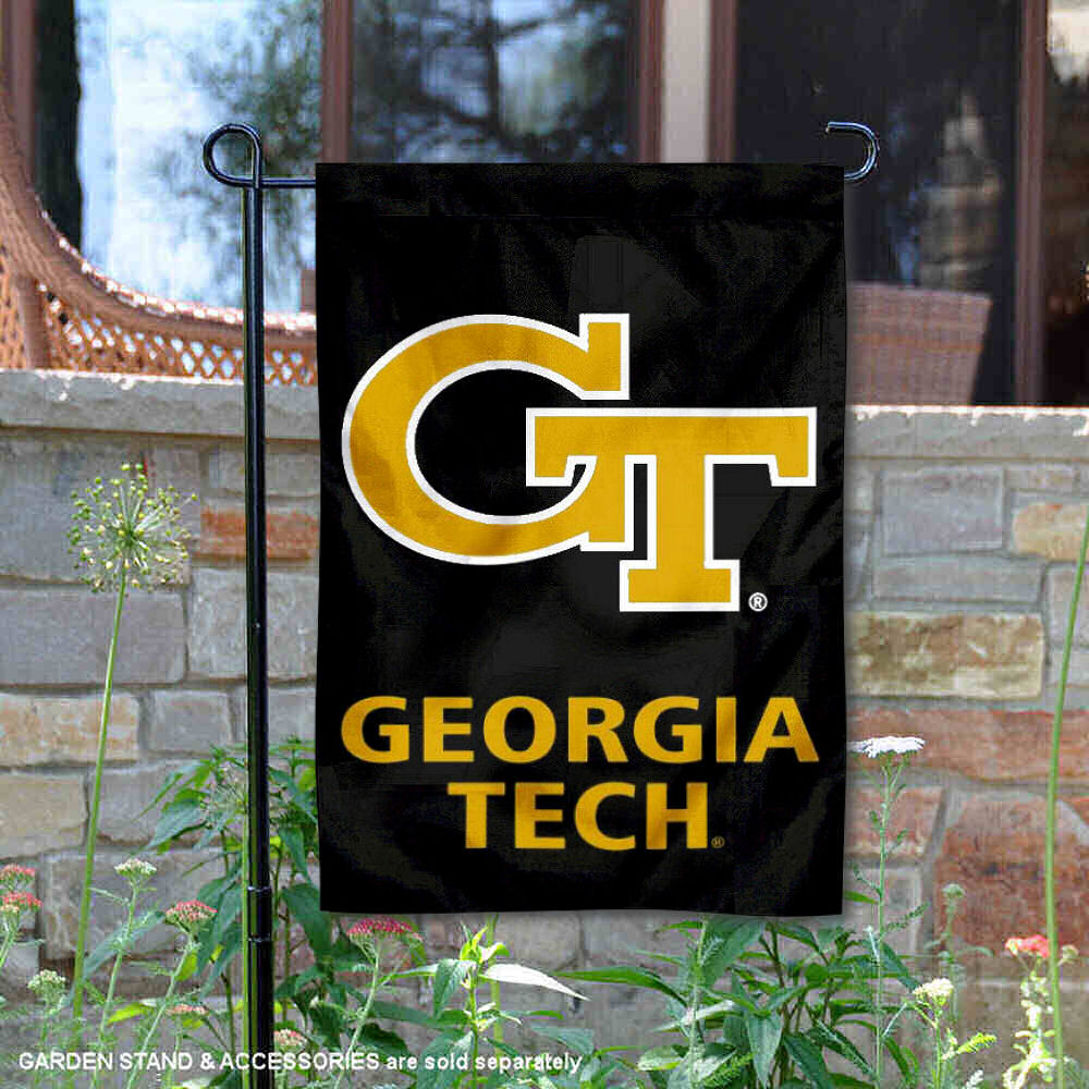 "Georgia Tech Yellow Jackets Black 13"" x 18"" College Garden Flag"