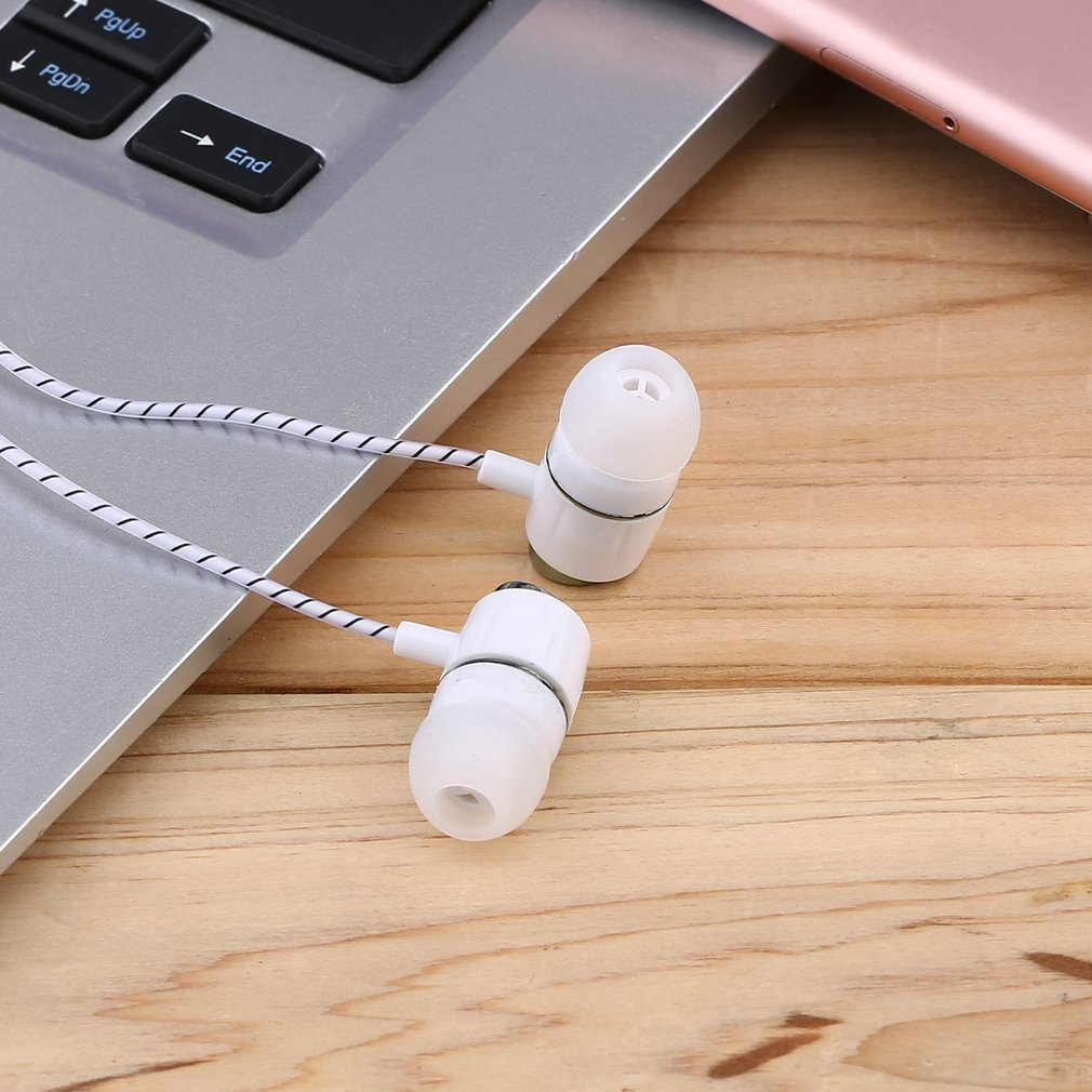 Unique Fashion KY-49 Crystal Line Earphone Electroplating Bass Stereo In-ear Headphone Suitable For Most Mobile Phone