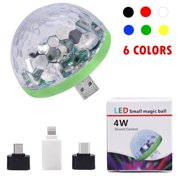 USB Party Lights Mini Disco Ball,Led Small Magic Ball Sound Control DJ Stage Light Colorful Strobe RGB Lamp For Christmas/Brithday/Wedding/Club/Karaoke Decorations,Suitable for mobile phones