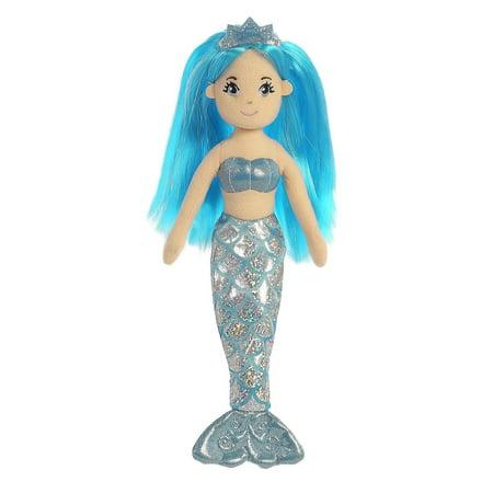 10 Inch Plush Snowflake - Sapphire?Mermaid 10 inch - Play Doll by Aurora Plush (33212)