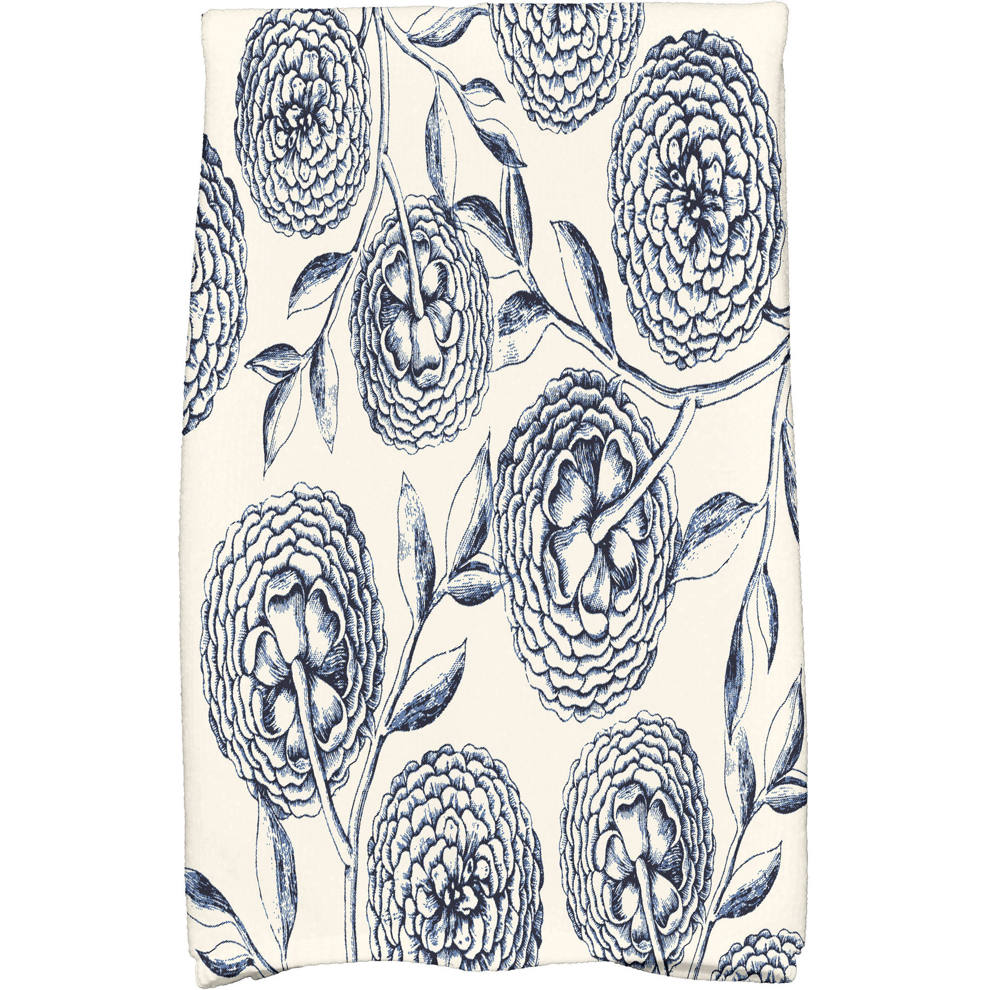 "Simply Daisy 16"" x 25"" Antique Flowers Floral Print Kitchen Towel by E By Design"