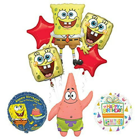 Spongebob Squarepants and Patrick Birthday Party Supplies and Balloon Bouquet Decorations - Bomb Party