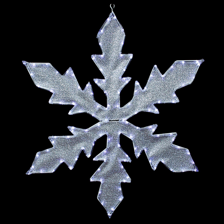 "CC Christmas 36"" Pure White LED Lighted Tube Light Silver..."