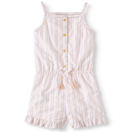 Girls Striped Romper - Striped Woven Romper (Toddler Girls)