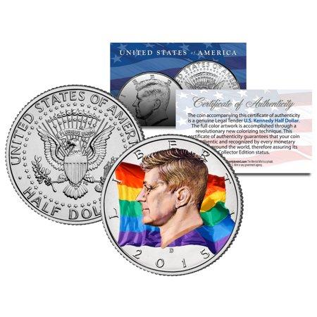 - RAINBOW FLAG Colorized 2015 JFK Half Dollar US Coin GAY PRIDE Lesbian LGBT Love