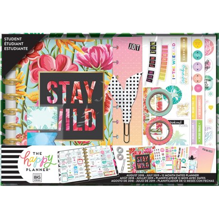The Happy Planner 12-Month Dated Planner Kit-Stay Wild, Aug 2018-July 2019