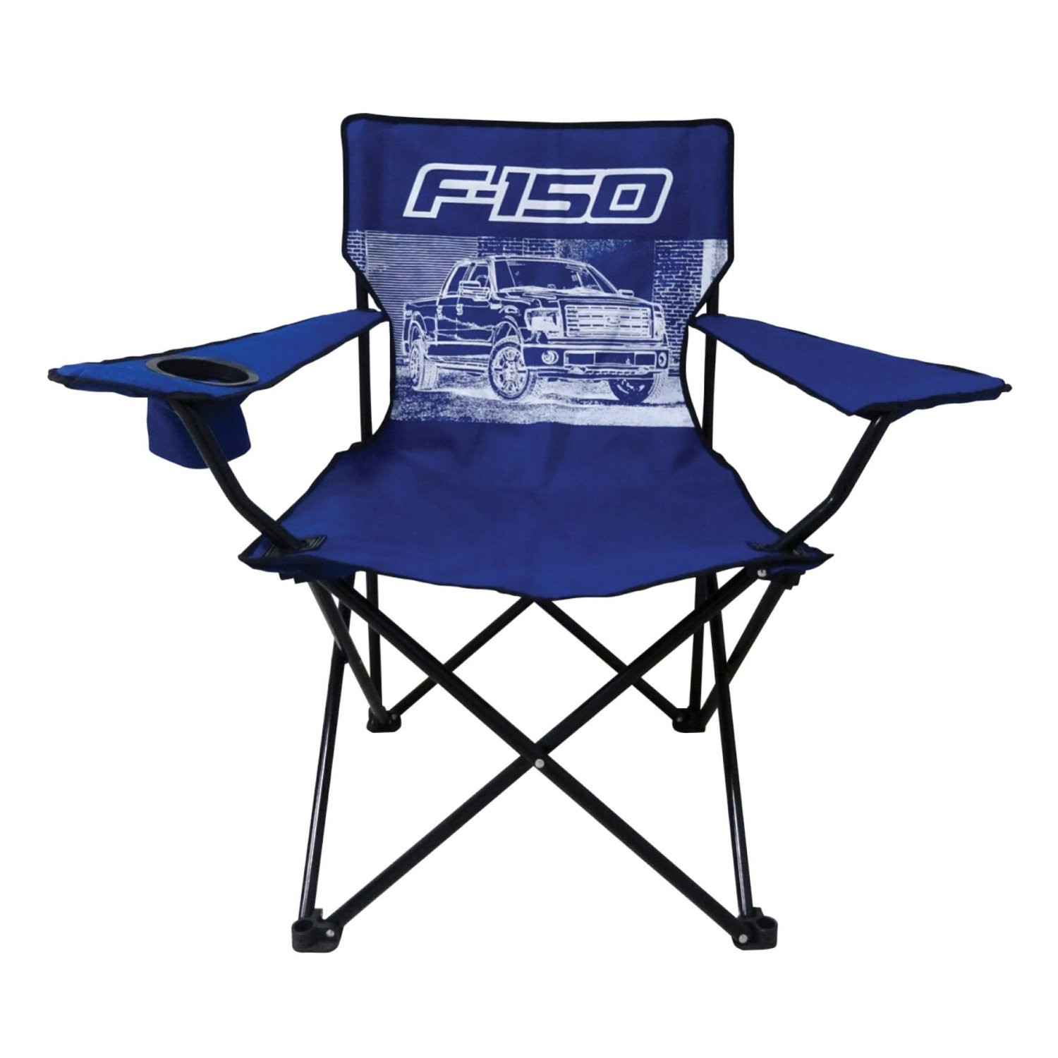 Click here to buy Ford F-150 Truck Big Man Camp Chair with Cup Holder.