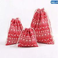 KABOER Small Fresh Drawstring Bunch Bag Christmas Candy Tea Gift Bag