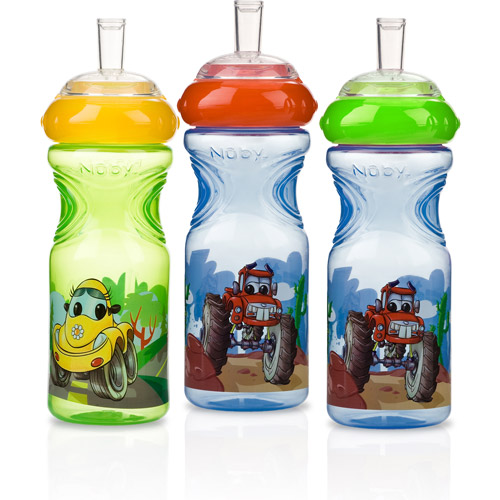 Nuby Sport Sipper Straw Sippy Cup - 3 pack