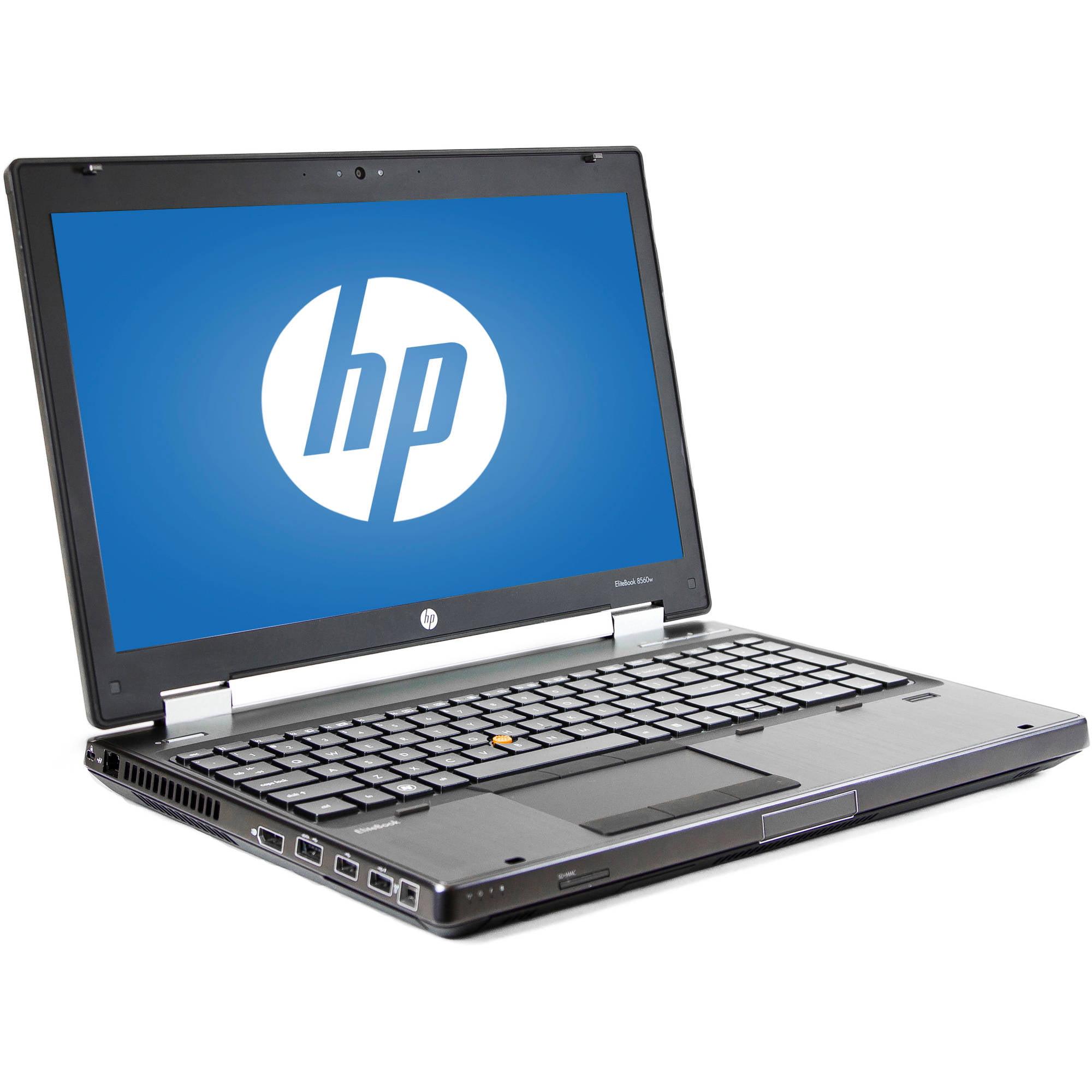 "Refurbished HP Silver 15.6"" 8560W Elitebook Laptop PC with Intel Core i7-2820QM Processor, 8GB Memory, 500GB Hard Drive and Windows 7 Professional"