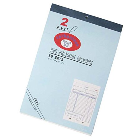 invoice book keep track of sales with this 2 part carbonless