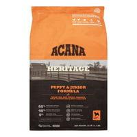 Acana Heritage Grain-Free Puppy and Junior Dry Dog Food, 25lb