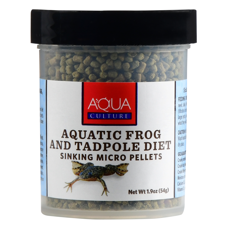 Aqua Culture Aquatic Frog & Tadpole Diet Sinking Micro Pellets, 1.9 Oz