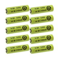 10pc Exell AA Sz Rechargeable Battery 2100mAh NiMH 1.2V Button Top Cell USA SHIP