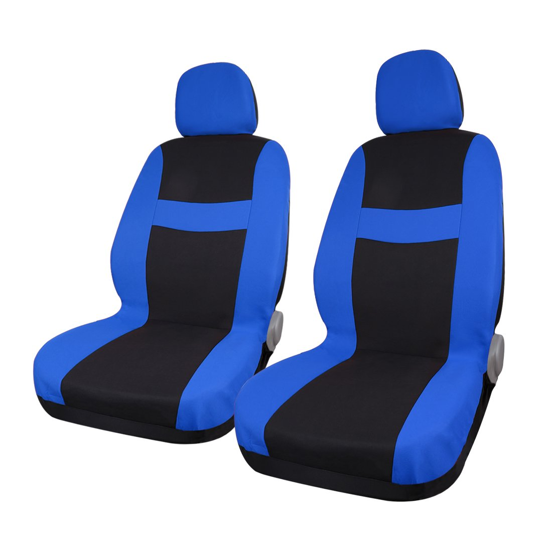 Fabulous Universal Car Seat Covers For Auto Truck W Breathable Headrest Blue Black Pdpeps Interior Chair Design Pdpepsorg