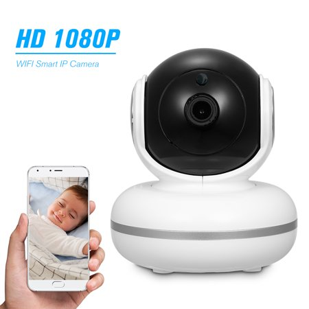 1080P PTZ Indoor IP Camera with External TF Card Slot WiFi Home Camera Support Night Vision Motion Detection Clear Sound Two-Way Audio Phone APP Remote Monitor for Baby/Elder/Nanny/Pet (Best External Ip Camera)