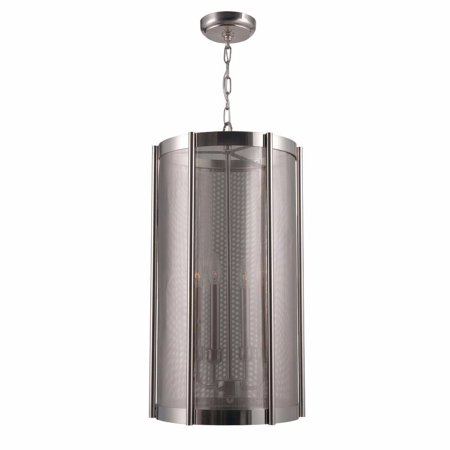 World Imports WI-8944-37 Xena Collection 4-Light Brushed Nickel Indoor Pendant ()