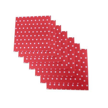 Christmas Red and White Polka Dot Party Napkins, 20 Count, 6.5