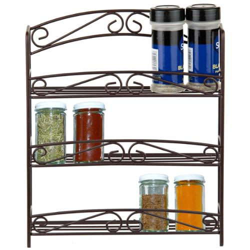 bed bath n more 3-tier Bronze Spice Rack with Classic Scroll Design by Overstock