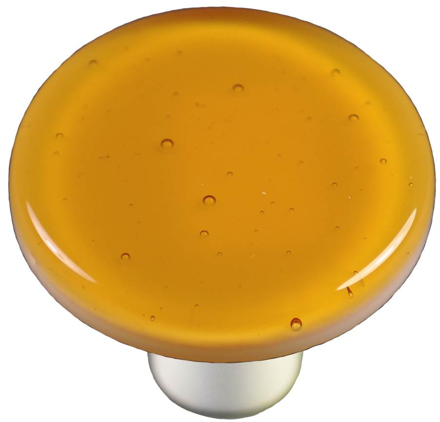 Round Knob in Medium Amber (Aluminum)