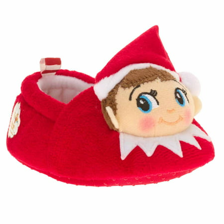 Girl And Boy Elf On The Shelf (Infant Boys & Girls Plush Red Elf on the Shelf Slippers Baby)