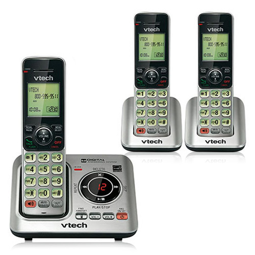Vtech CS6429-3 Two Extra Handset Cordless Phone w/ Voicem...