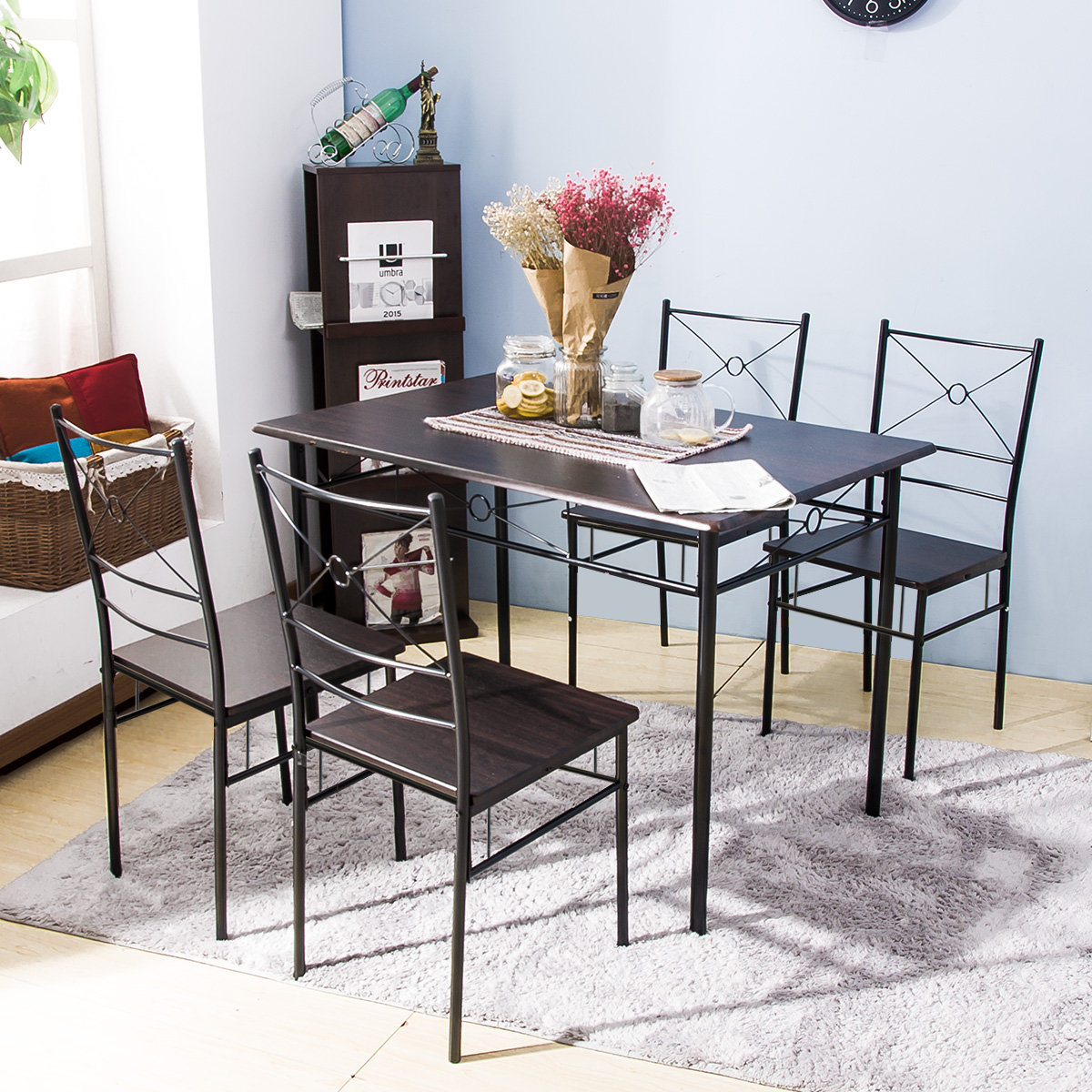 Clearance Dining Table: Clearance! 5 Piece Dining Table Set, SEGMART Modern Wooden