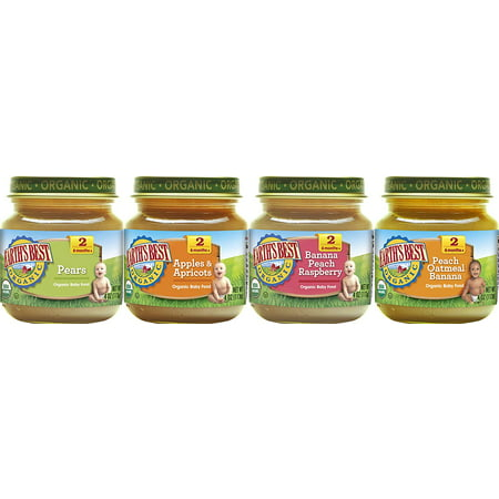 Earth's Best Organic Stage 2 Baby Food, Favorite Fruits Variety Pack, 4 Ounce Jars, Pack of