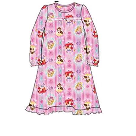 Disney Princess Big Girls Toddler Granny Style Nightgown Sleepwear - - Princess Nightgowns For Toddlers