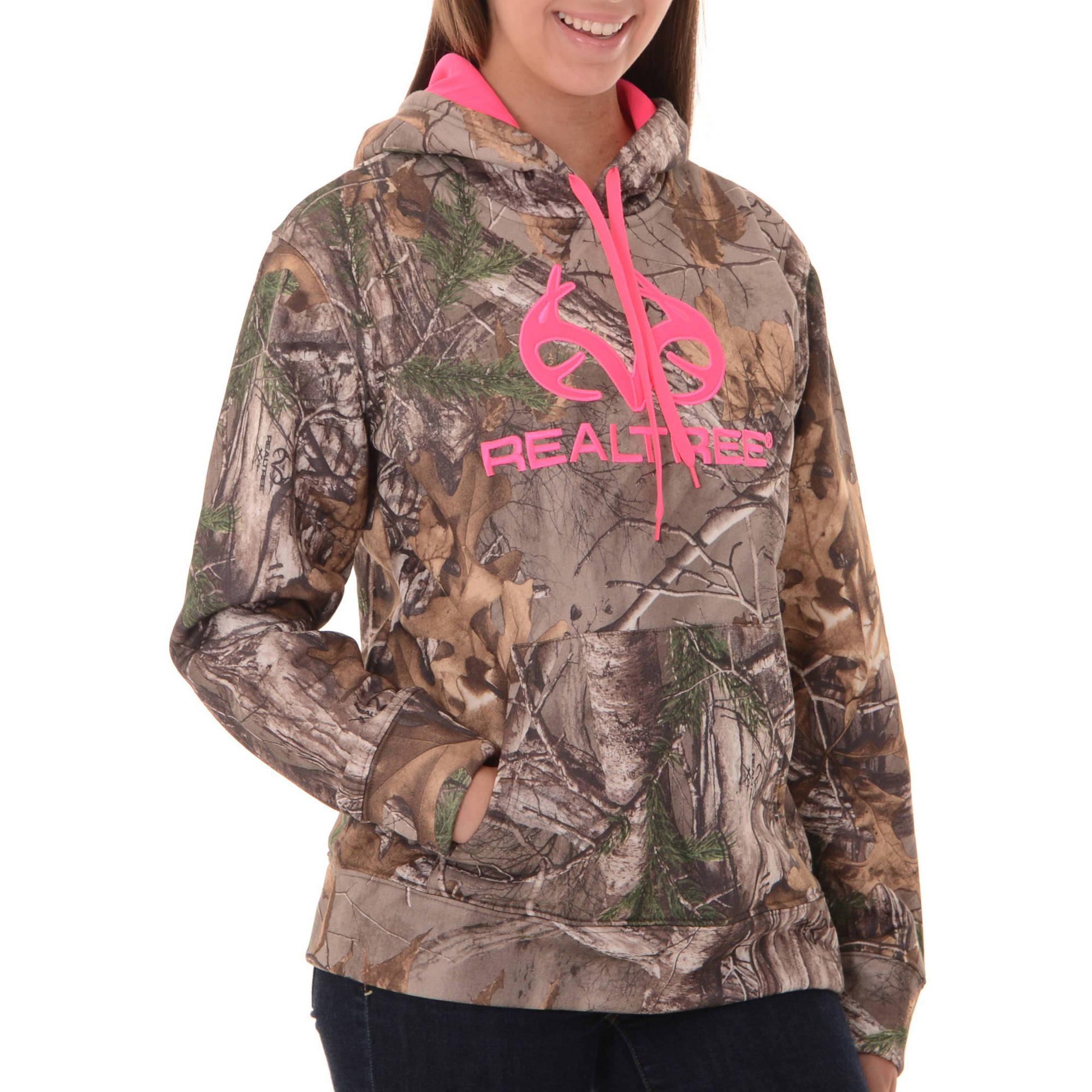 Women's Realtree & Mossy Oak Camo Performance Pullover Fleece  Hoodie
