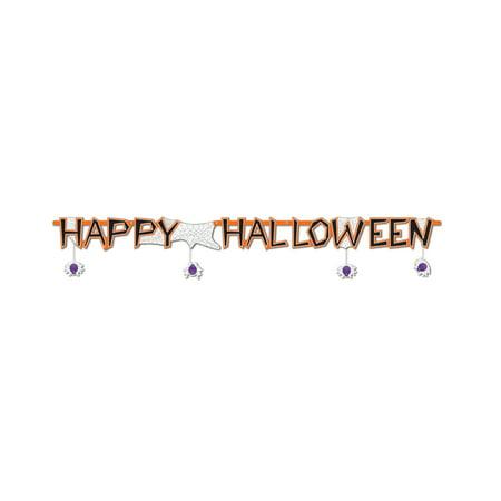 Happy Halloween Streamer (Pack of 12) - Halloween Streamers Ideas
