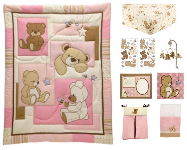 Little Bedding by NoJo Dreamland Teddy 10 Piece Crib Bedding Set by Little Bedding by NoJo