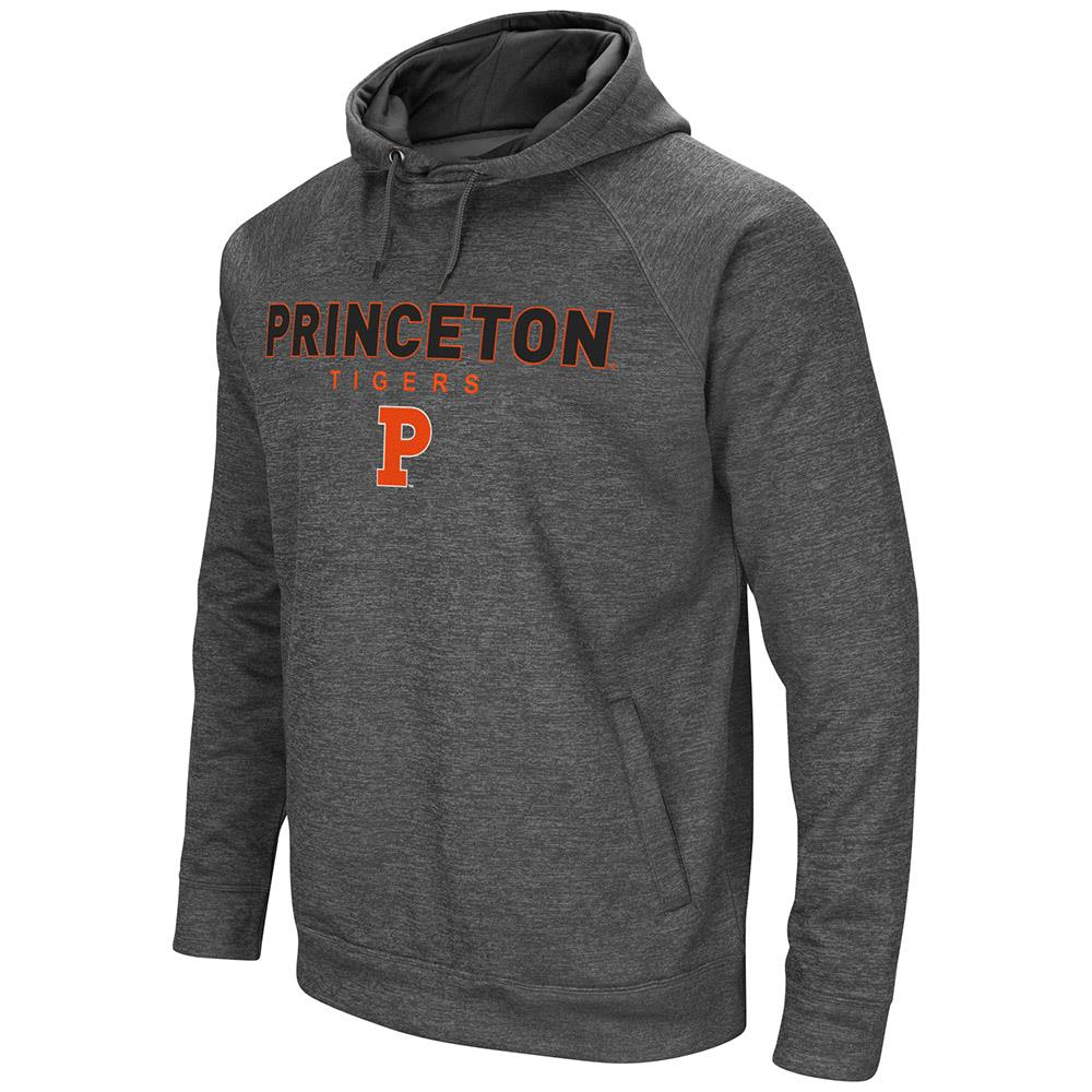 Mens Princeton Tigers Heather Charcoal Pull-over Hoodie